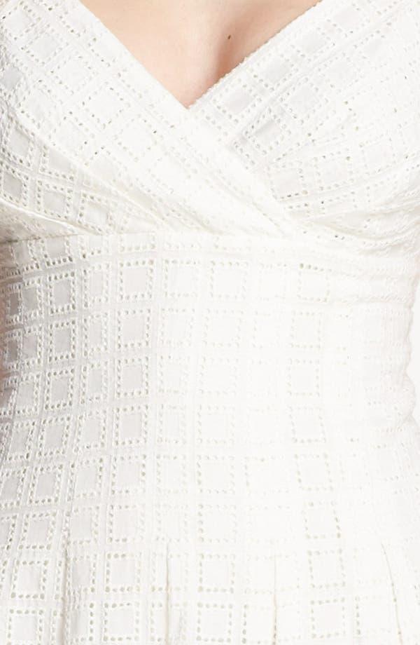 Alternate Image 3  - Calvin Klein Eyelet Fit & Flare Dress
