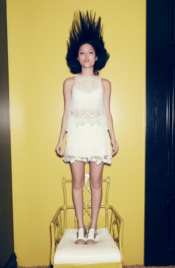Main Image - Tildon Fitted Cardigan, ASTR Crochet Tank & Skirt