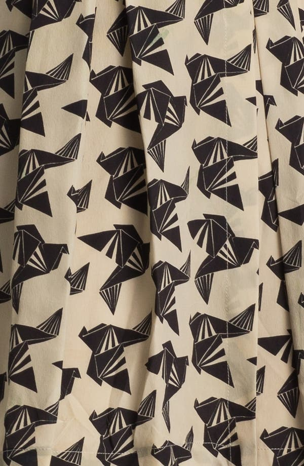 Alternate Image 3  - Eliza J Bird Print Sleeveless Dress (Petite)