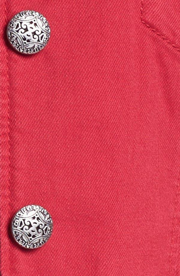 Alternate Image 3  - Silver Jeans Co. Denim Jacket (Juniors Plus)