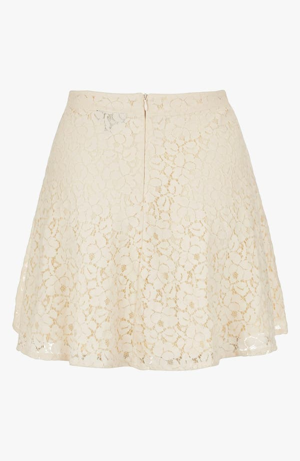 Alternate Image 2  - Topshop Lace Skater Skirt
