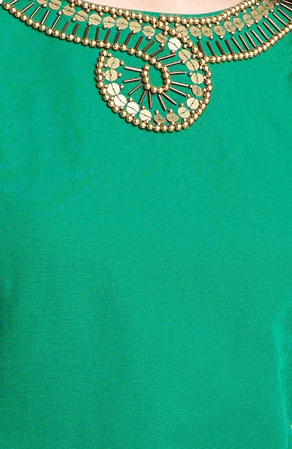 Alternate Image 3  - Ellen Tracy Embellished Cotton Sheath Dress