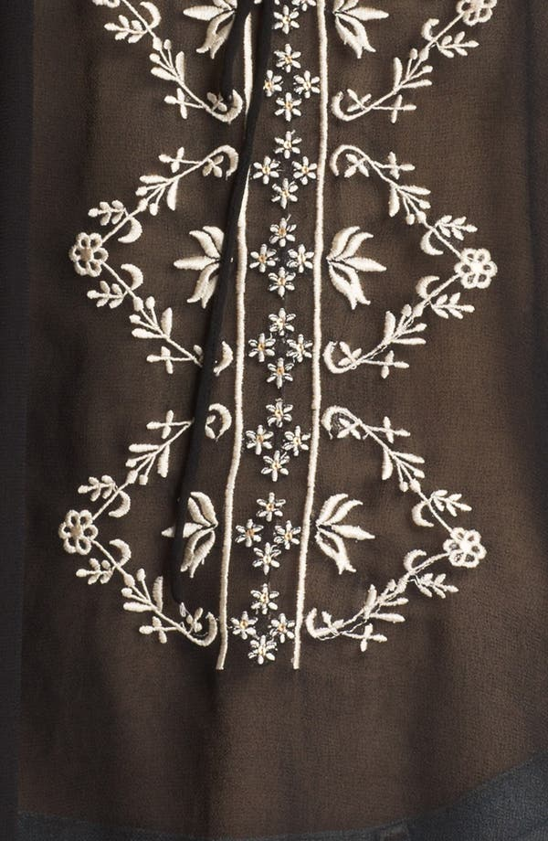 Alternate Image 3  - Willow & Clay Embroidered Chiffon Peasant Top