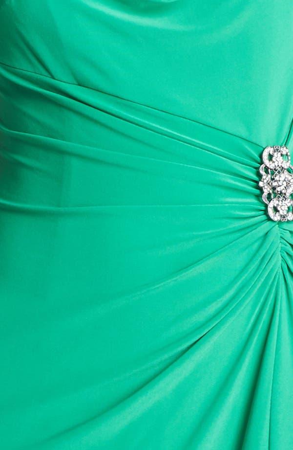 Alternate Image 3  - Lauren Ralph Lauren Embellished Matte Jersey Column Gown (Regular & Petite)
