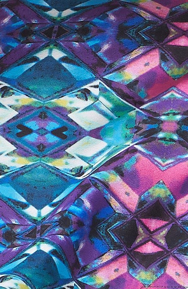 Alternate Image 3  - Mimi Chica High Waist Print Shorts (Juniors)
