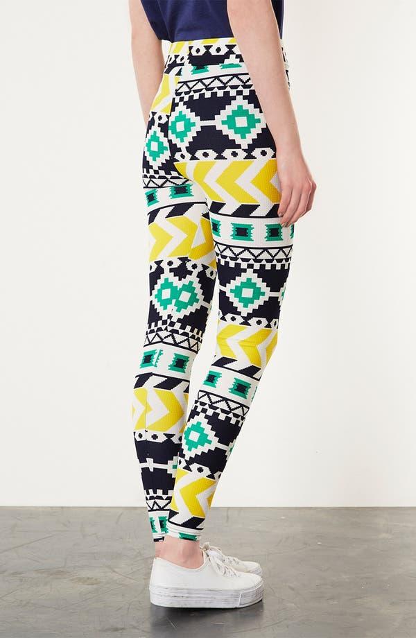 Alternate Image 2  - Topshop Geometric Print Leggings