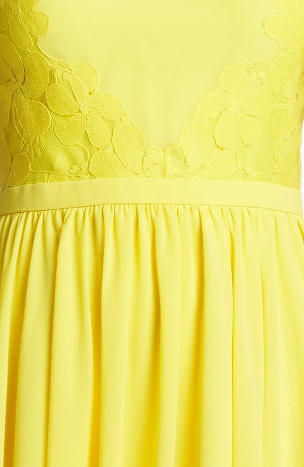 Alternate Image 3  - Ted Baker London Mixed Media Fit & Flare Dress