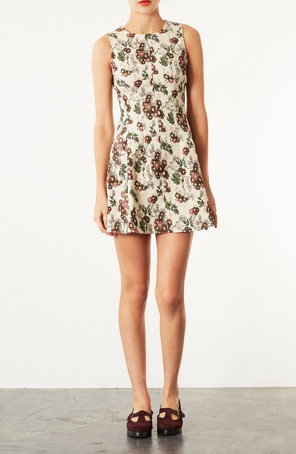 Main Image - Topshop Floral Jacquard Dress