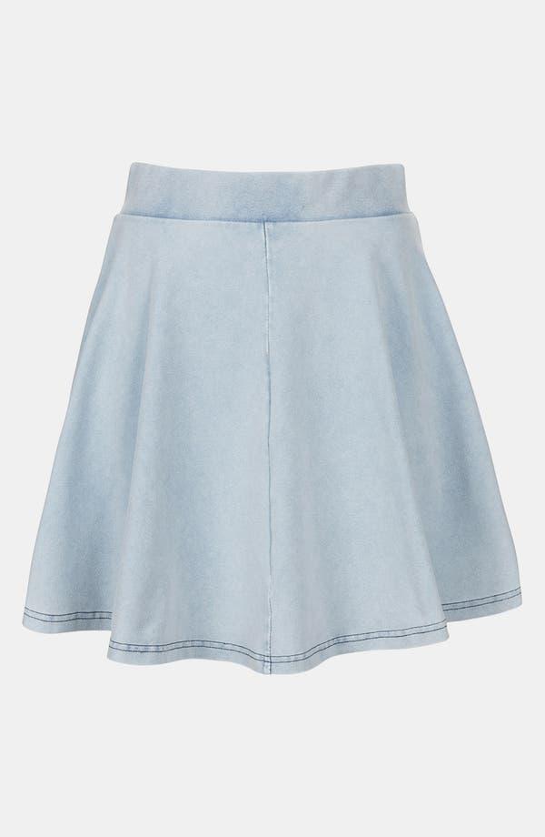 Alternate Image 3  - Topshop 'Andie' Denim Look Skater Skirt