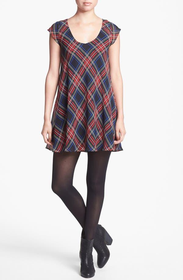 Main Image - Like Mynded Tartan Scoop Neck Dress