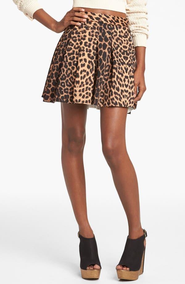 Main Image - Mural Leopard Print Skater Skirt