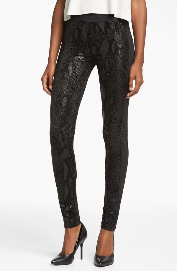 Alternate Image 1 Selected - MINKPINK 'Black Python' Leggings