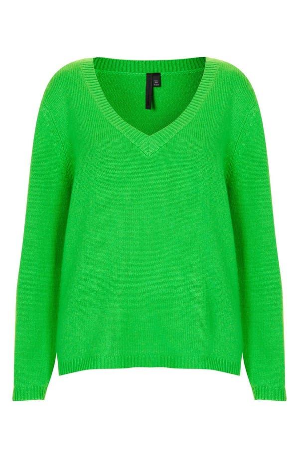 Alternate Image 3  - Topshop Boutique Cashmere V-Neck Sweater