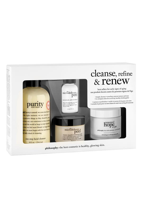 Alternate Image 2  - philosophy 'cleanse, refine, renew' kit (Limited Edition) ($110 Value)