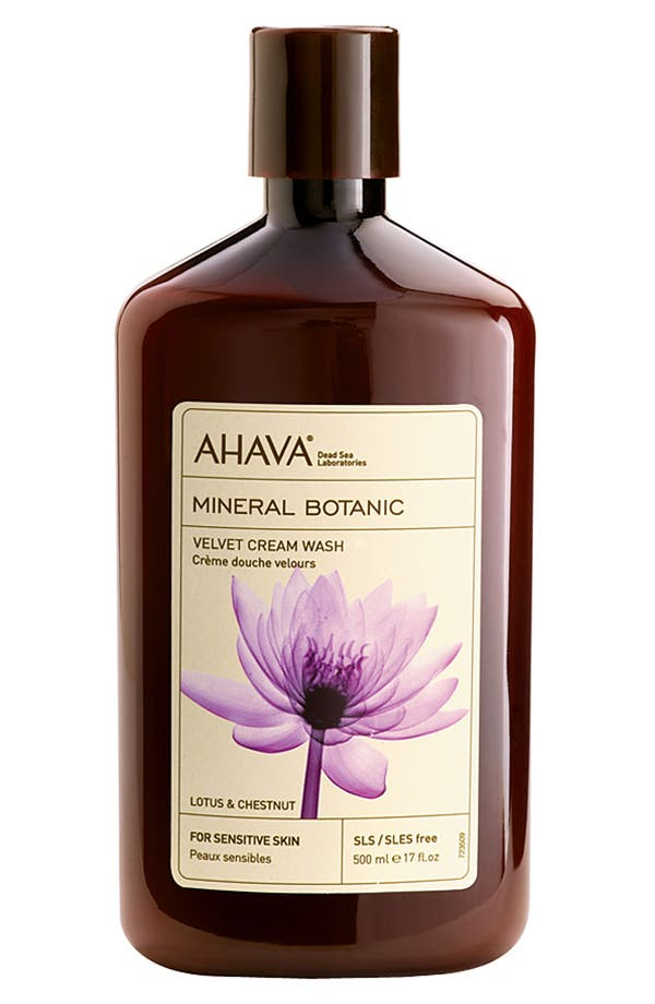 Main Image - AHAVA 'Lotus & Chestnut' Mineral Botanic Velvet Cream Wash for Sensitive Skin