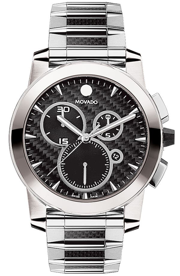 Alternate Image 1 Selected - Movado 'Vizio' Chronograph Bracelet Watch, 45mm