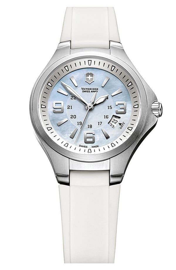 Alternate Image 1 Selected - Victorinox Swiss Army® 'Base Camp' Mother-of-Pearl Dial Watch