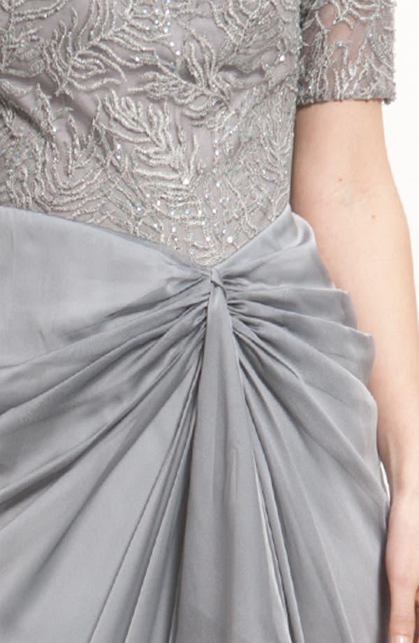 Alternate Image 3  - Tadashi Shoji Mesh & Chiffon Drape Dress