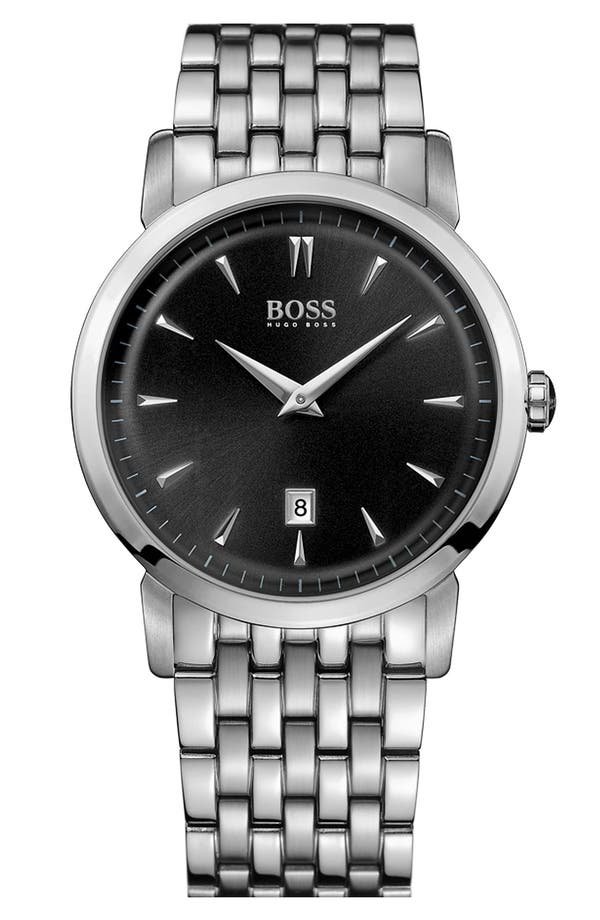 Main Image - BOSS HUGO BOSS Round Bracelet Watch, 40mm