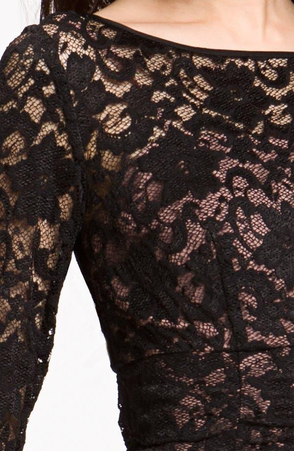 Alternate Image 3  - Eliza J Ruched Lace Sheath Dress