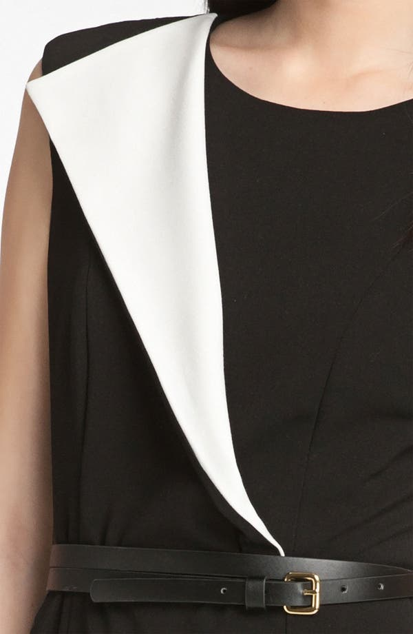 Alternate Image 3  - Calvin Klein Origami Detail Belted Jersey Sheath Dress