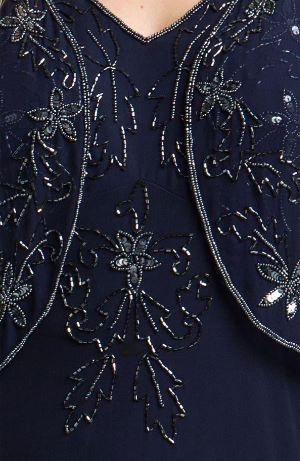 Alternate Image 3  - Pisarro Nights Beaded Silk Dress & Jacket (Plus)