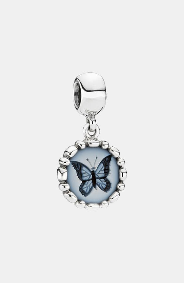 Alternate Image 1 Selected - PANDORA Butterfly Cameo Dangle Charm