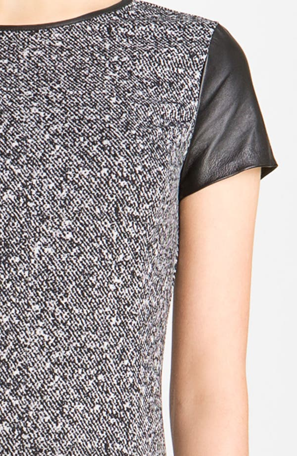 Alternate Image 3  - MICHAEL Michael Kors Leather Trim Ponte Dress