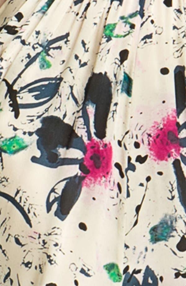 Alternate Image 3  - Rachel Zoe 'Natasha' Floral Print Silk Gown
