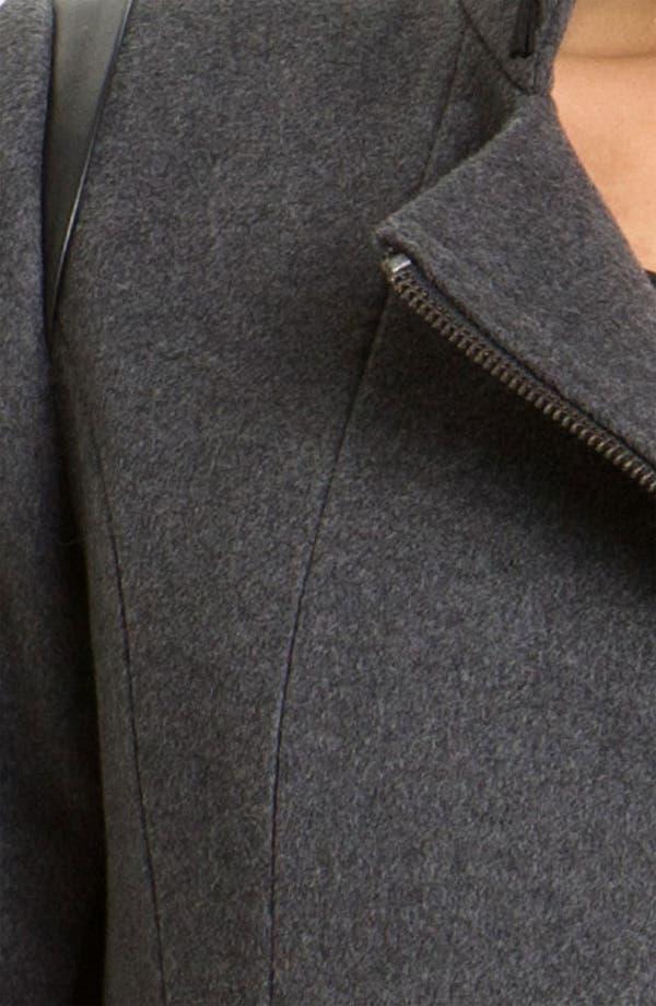 Alternate Image 3  - Kristen Blake Asymmetrical Zip Belted Coat