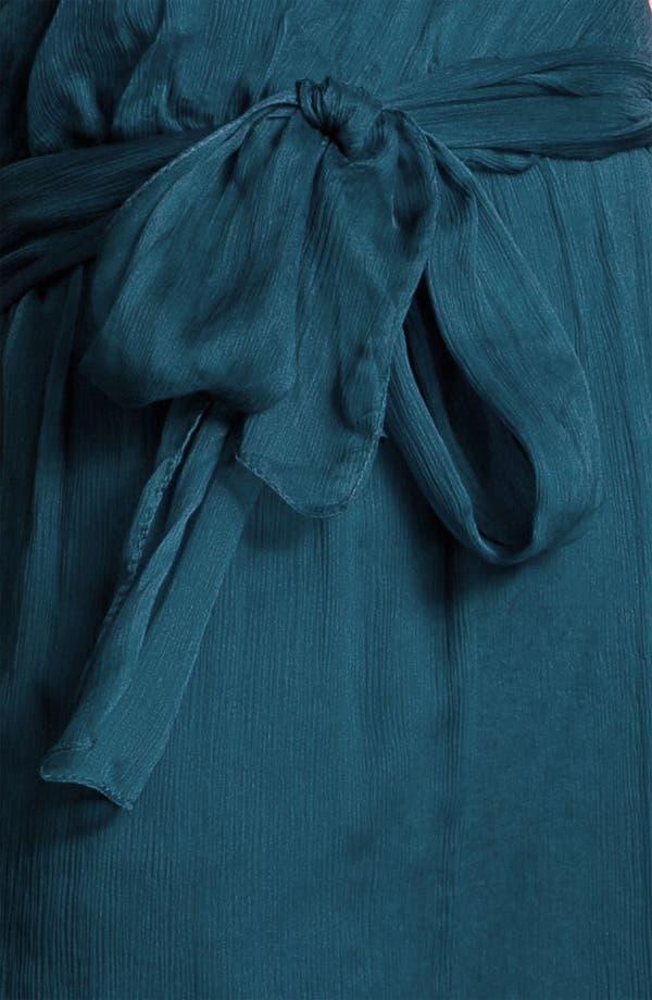 Alternate Image 3  - Amsale One Shoulder Belted Silk Chiffon Dress