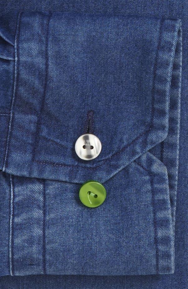 Alternate Image 2  - Eton Contemporary Fit Denim Non-Iron Dress Shirt