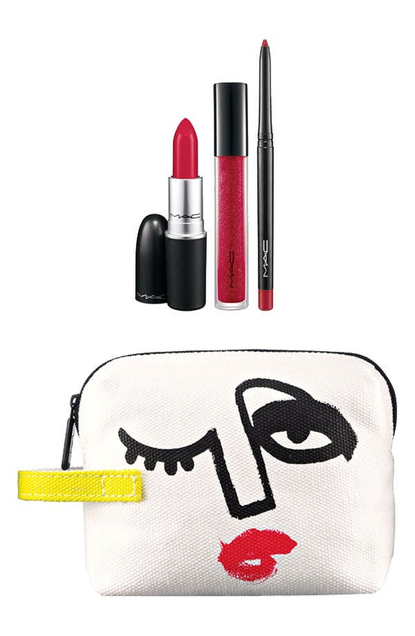 Alternate Image 1 Selected - M·A·C 'Illustrated - Red x3' Lip Color & Bag by Julie Verhoeven (Nordstrom Exclusive) ($54.50 Value)