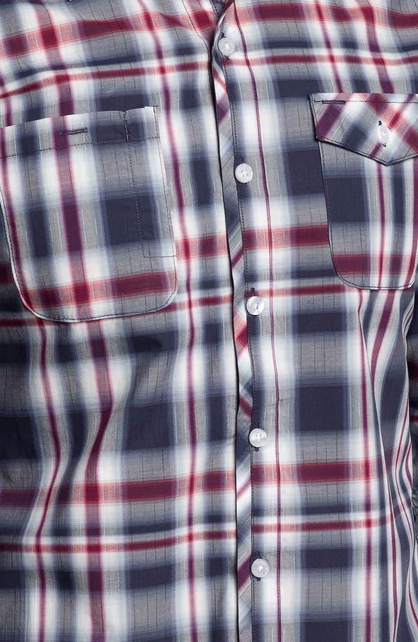 Alternate Image 2  - 7 Diamonds 'Everyday Shelter' Plaid Trim Fit Cotton Sport Shirt