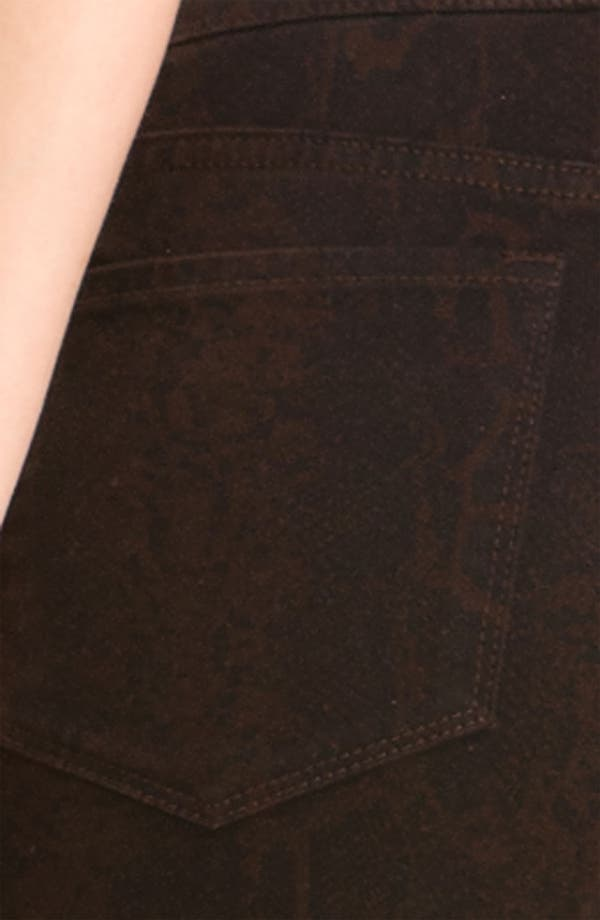 Alternate Image 3  - NYDJ 'Sheri' Python Print Skinny Twill Jeans