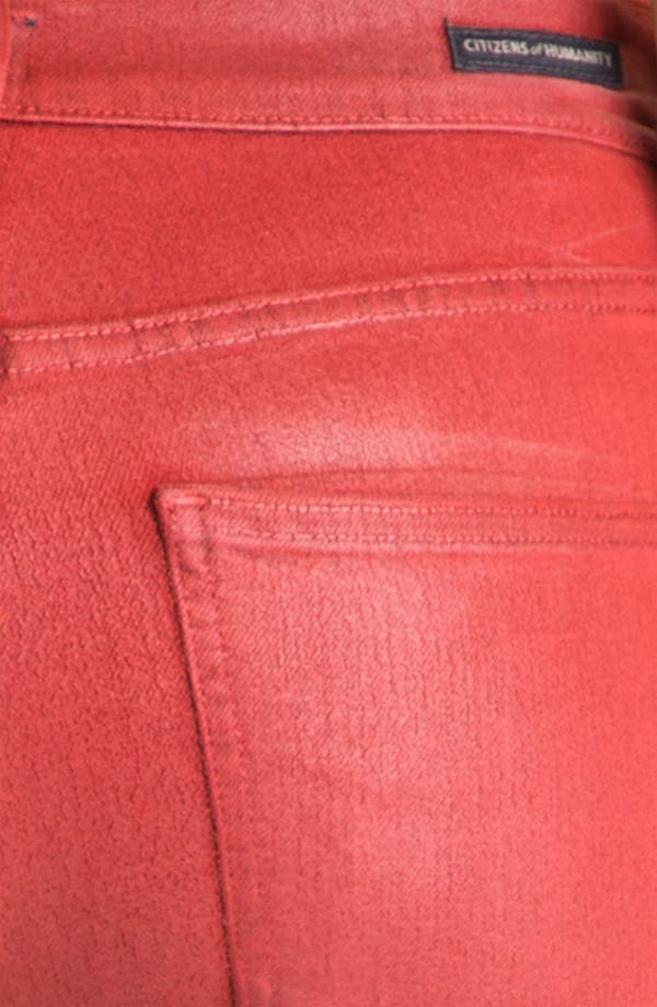 Alternate Image 3  - Citizens of Humanity 'Rocket' Skinny Leatherette Jeans (Vamp Red)