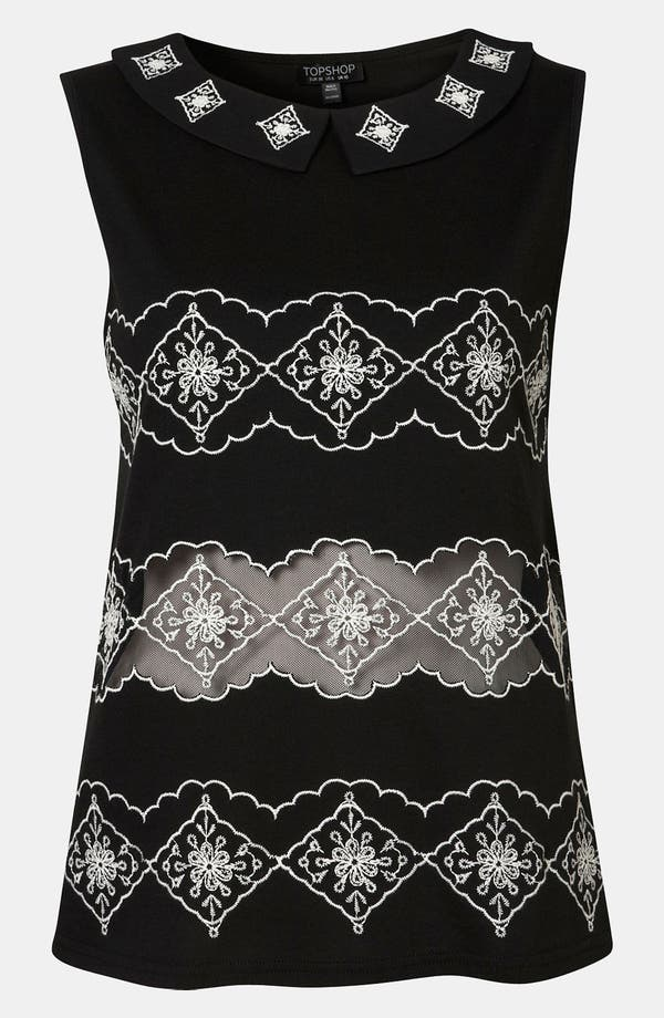 Alternate Image 1 Selected - Topshop Embroidered Top