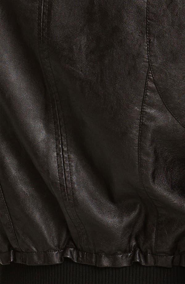 Alternate Image 3  - Jou Jou Faux Leather Biker Vest (Juniors)