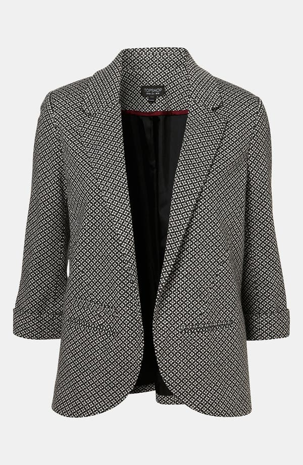 Alternate Image 1 Selected - Topshop 'Diamond' Knit Blazer