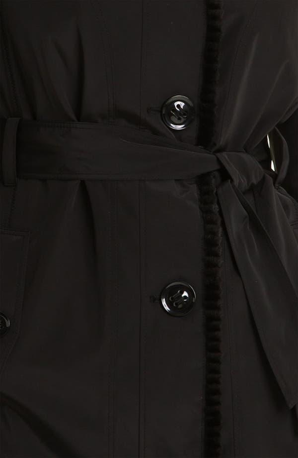 Alternate Image 3  - Gallery Faux Fur Trim Storm Coat