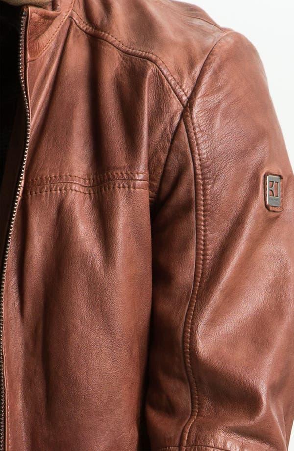 Alternate Image 2  - BOSS Orange 'Jab' Leather Jacket