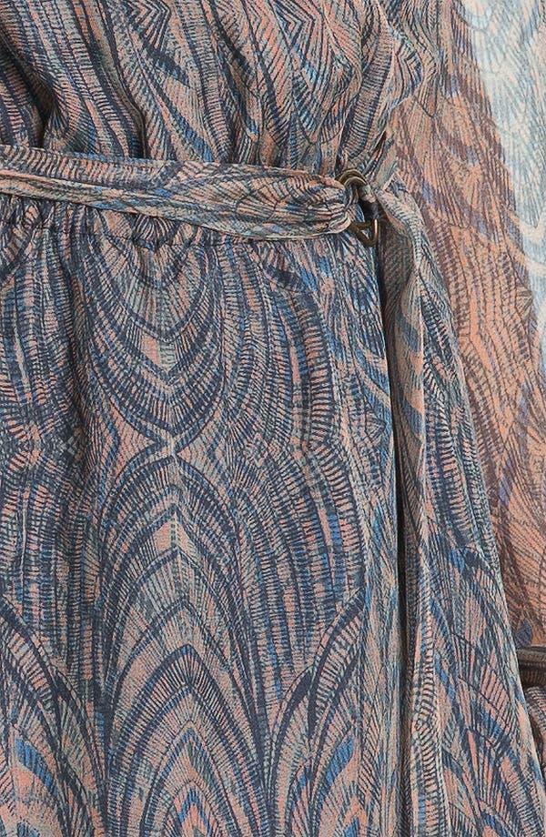 Alternate Image 3  - Presley Skye Printed Blouson Sleeve Silk Dress