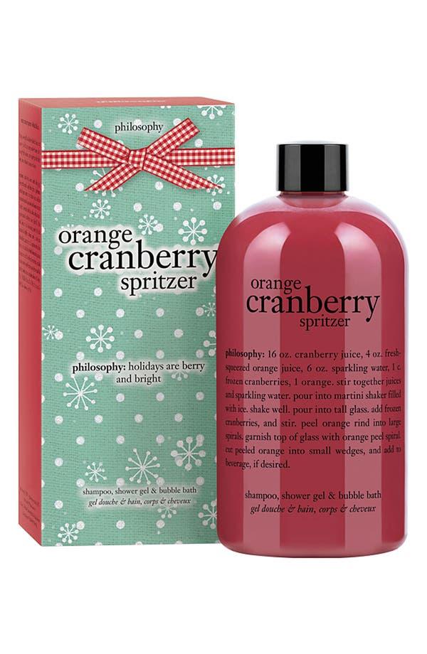 Main Image - philosophy 'orange cranberry spritzer' shampoo, shower gel & bubble bath (Nordstrom Exclusive)