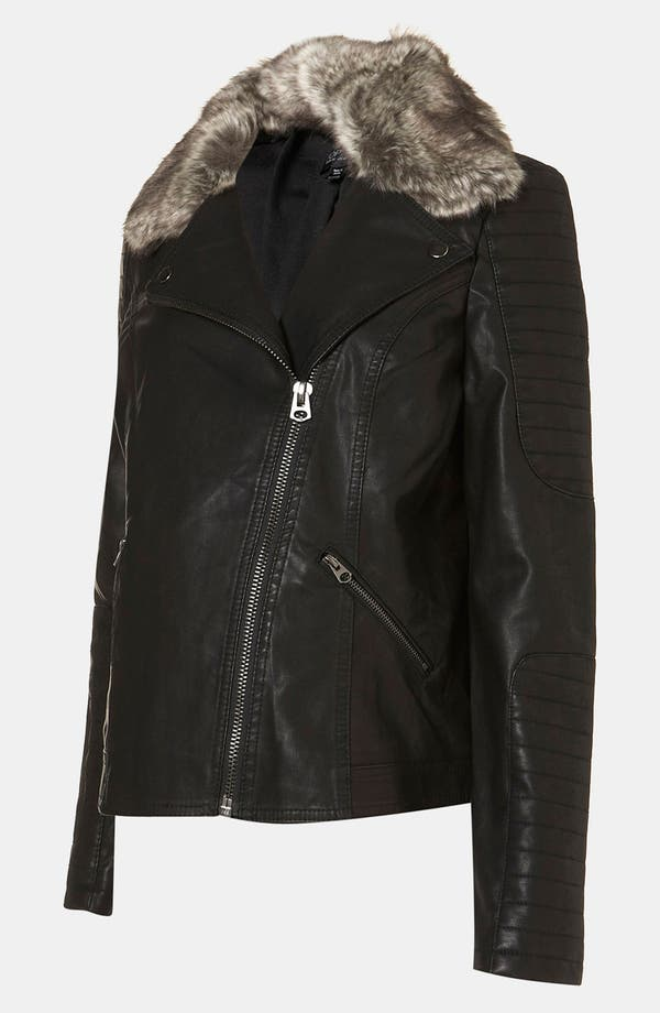 Alternate Image 2  - Topshop 'Maddox' Faux Leather Maternity Jacket