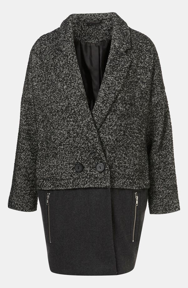 Main Image - Topshop Mixed Media Coat