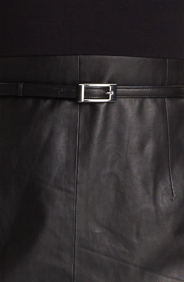 Alternate Image 3  - Classiques Entier® Belted Leather & Ponte Dress