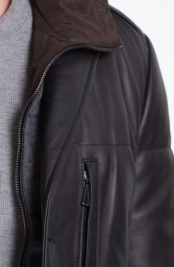Alternate Image 3  - Pal Zileri 'Napa' Hooded Leather Jacket
