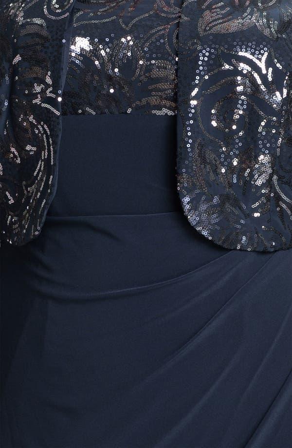 Alternate Image 3  - Alex Evenings Sequin Faux Wrap Dress & Jacket (Plus)