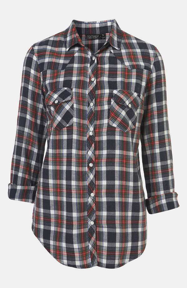 Alternate Image 1 Selected - Topshop 'Glasgow' Plaid Shirt