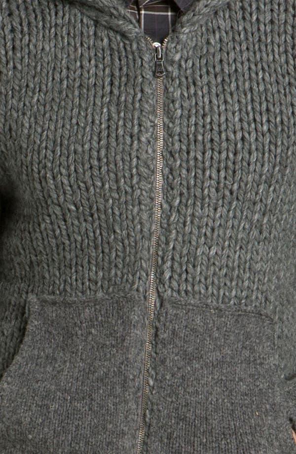 Alternate Image 3  - John Varvatos Star USA Cable Knit Zip Hoodie